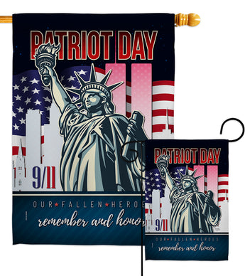 Our Fallen Heroes - Military Americana Vertical Impressions Decorative Flags HG108444 Made In USA