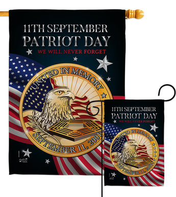 Patriot Day 911 - Military Americana Vertical Impressions Decorative Flags HG137288 Made In USA
