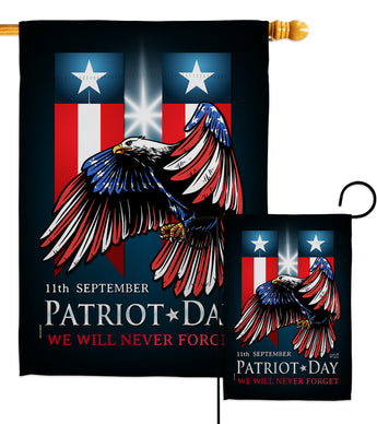 911 Patriot Day - Military Americana Vertical Impressions Decorative Flags HG137289 Made In USA