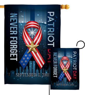 911 Never Forget - Military Americana Vertical Impressions Decorative Flags HG137290 Made In USA
