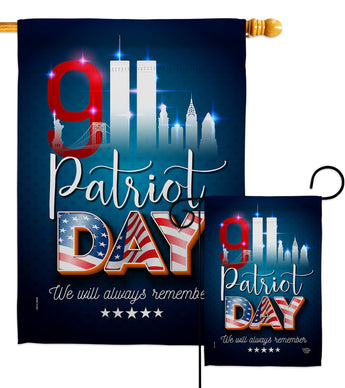911 Remember Honor - Military Americana Vertical Impressions Decorative Flags HG192275 Made In USA