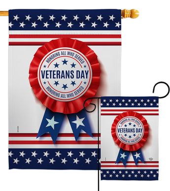 Veterans Day - Military Americana Vertical Impressions Decorative Flags HG192329 Made In USA