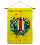 Vietnam Veteran - Military Americana Vertical Impressions Decorative Flags HG108235 Made In USA