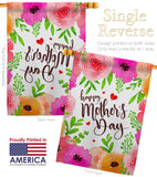 Colorful Happy Mother's Day - Mother's Day Summer Vertical Impressions Decorative Flags HG137053 Made In USA