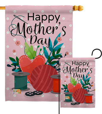 Happy Sweet Mother's Day - Mother's Day Summer Vertical Impressions Decorative Flags HG115136 Made In USA