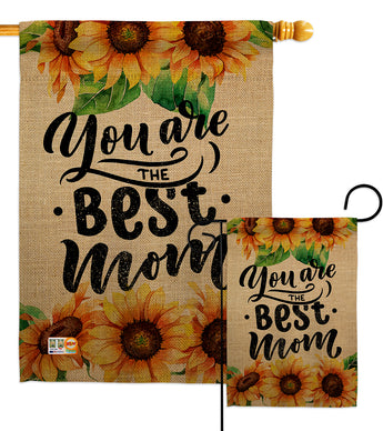 Best Mom - Mother's Day Summer Vertical Impressions Decorative Flags HG137179 Made In USA