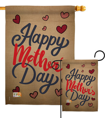Happy Mother's Day - Mother's Day Summer Vertical Impressions Decorative Flags HG192031 Made In USA
