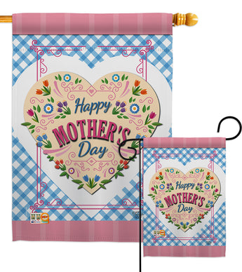 Floral Mother Day - Mother's Day Summer Vertical Impressions Decorative Flags HG192168 Made In USA