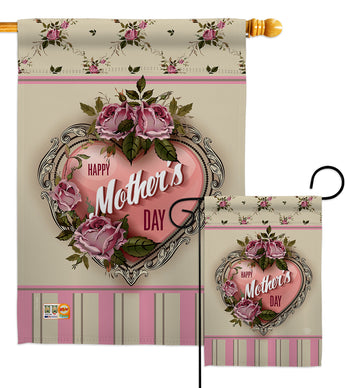 Rose Mother Day - Mother's Day Summer Vertical Impressions Decorative Flags HG192183 Made In USA