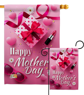 Beautiful Mother Day - Mother's Day Summer Vertical Impressions Decorative Flags HG192189 Made In USA