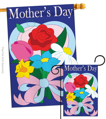 Mother's Day - Mother's Day Summer Vertical Applique Decorative Flags HG115061