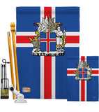 Iceland - Nationality Flags of the World Vertical Impressions Decorative Flags HG108170 Made In USA