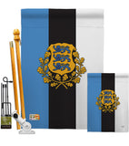 Estonia - Nationality Flags of the World Vertical Impressions Decorative Flags HG108171 Made In USA