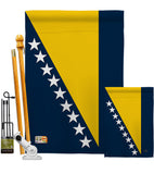 Bosnia & Herzegovina - Nationality Flags of the World Vertical Impressions Decorative Flags HG108193 Made In USA