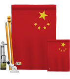 China - Nationality Flags of the World Vertical Impressions Decorative Flags HG140052 Made In USA
