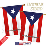 Puerto Rico - Nationality Flags of the World Vertical Impressions Decorative Flags HG108049 Printed In USA