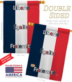 France - Nationality Flags of the World Vertical Impressions Decorative Flags HG108089 Made In USA