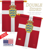 Denmark - Nationality Flags of the World Vertical Impressions Decorative Flags HG108093 Printed In USA