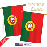 Portugal - Nationality Flags of the World Vertical Impressions Decorative Flags HG108118 Printed In USA
