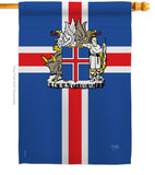 Iceland - Nationality Flags of the World Vertical Impressions Decorative Flags HG108170 Printed In USA