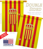 Catalonia - Nationality Flags of the World Vertical Impressions Decorative Flags HG108183 Made In USA