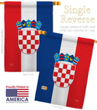 Croatia - Nationality Flags of the World Vertical Impressions Decorative Flags HG108210 Made In USA