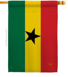 Ghana - Nationality Flags of the World Vertical Impressions Decorative Flags HG108221 Printed In USA