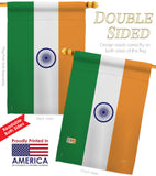 India - Nationality Flags of the World Vertical Impressions Decorative Flags HG108226 Printed In USA