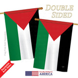 Palestine - Nationality Flags of the World Vertical Impressions Decorative Flags HG108228 Printed In USA