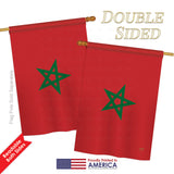 Morocco - Nationality Flags of the World Vertical Impressions Decorative Flags HG108250 Printed In USA