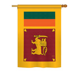 Sri Lanka - Nationality Flags of the World Vertical Impressions Decorative Flags HG108256 Printed In USA