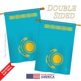 Kazakhstan - Nationality Flags of the World Vertical Impressions Decorative Flags HG108273 Printed In USA
