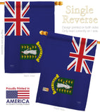 British Virgin Islands - Nationality Flags of the World Vertical Impressions Decorative Flags HG108337 Made In USA