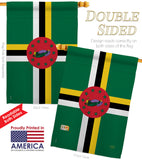 Dominica - Nationality Flags of the World Vertical Impressions Decorative Flags HG108344 Printed In USA