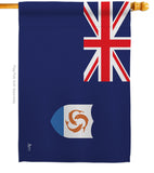 Anguilla - Nationality Flags of the World Vertical Impressions Decorative Flags HG140008 Made In USA