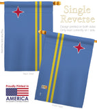 Aruba - Nationality Flags of the World Vertical Impressions Decorative Flags HG140013 Made In USA