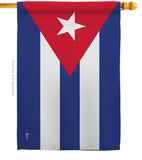 Cuba - Nationality Flags of the World Vertical Impressions Decorative Flags HG140062 Printed In USA