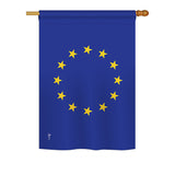 Europin - Nationality Flags of the World Vertical Impressions Decorative Flags HG140081 Printed In USA