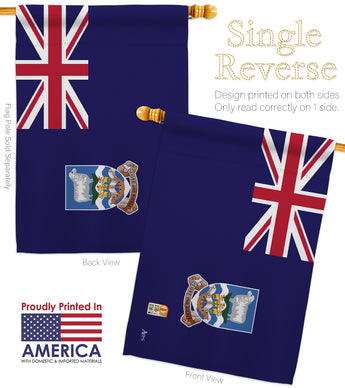 Falkland Islands - Nationality Flags of the World Vertical Impressions Decorative Flags HG140082 Made In USA