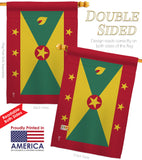 Grenada - Nationality Flags of the World Vertical Impressions Decorative Flags HG140096 Printed In USA