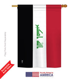 Iraq - Nationality Flags of the World Vertical Impressions Decorative Flags HG140111 Printed In USA