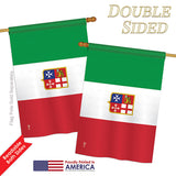 Italian Ensign - Nationality Flags of the World Vertical Impressions Decorative Flags HG140118 Printed In USA