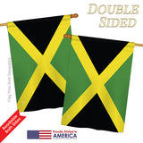 Jamaica - Nationality Flags of the World Vertical Impressions Decorative Flags HG140120 Printed In USA