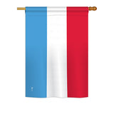 Luxembourg - Nationality Flags of the World Vertical Impressions Decorative Flags HG140140 Printed In USA