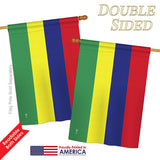 Mauritius - Nationality Flags of the World Vertical Impressions Decorative Flags HG140152 Printed In USA