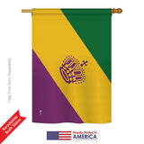 Mardi Gras - Nationality Flags of the World Vertical Impressions Decorative Flags HG140175 Printed In USA