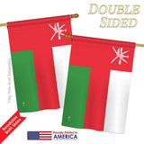 Oman - Nationality Flags of the World Vertical Impressions Decorative Flags HG140177 Printed In USA