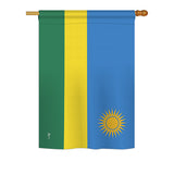 Rwanda - Nationality Flags of the World Vertical Impressions Decorative Flags HG140196 Printed In USA