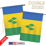 Saint Vincent - Nationality Flags of the World Vertical Impressions Decorative Flags HG140200 Printed In USA