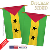 Sao Tome and Principe - Nationality Flags of the World Vertical Impressions Decorative Flags HG140204 Printed In USA